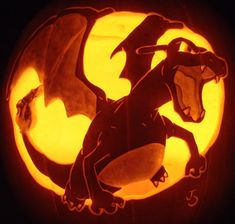 Charizard Pumpkin Redux by joh-wee.deviantart.com