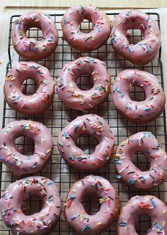 Homemade Homer Simpson donuts! abeautifulmess.com