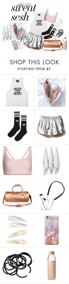 """""""gym style"""" by vinny1108 ❤ liked on Polyvore featuring adidas, Clover Canyon, Onzie, Kassatex, Mahi, Polaroid, Kitsch, Soma and sweatsesh"""