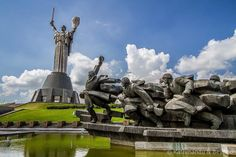 Museum of The History of Ukraine in World War II Memorial Complex Kiev Ukraine The Museum of The History of Ukraine in World War II Memorial Complex in Kiev commemorates the War on the Eastern Front (WWII) and is dominated by the enormous Motherland statue. The sword along weighs 9 tons and is 16 metres in length. The complex is one of the most impressive sights in the Ukrainian capital.  #ukraine #soviet #easterneurope #kiev #travel