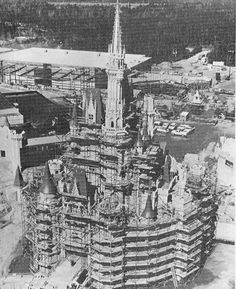 Cinderella's Castle under construction -- completed July 1971