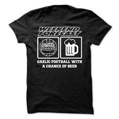 gaelic football with a chance of beer - #fathers gift #couple gift. ORDER NOW => https://www.sunfrog.com/LifeStyle/gaelic-football-with-a-chance-of-beer.html?68278