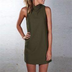 New Casual Sleeveless Dress blouse Oversized Robes Plus Size