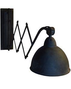 Uitrek lamp industrieel metaal zwart (mf032) | Wandlampen | EVN Woonstyle Rustic Industrial, Interior Design Living Room, Wall Lights, Lighting, Inspiration, Juni, Home Decor, Holland, Kitchen Ideas
