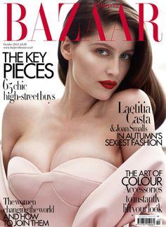 Laetitia Casta beautiful with bounteous breasts Harpers Bazaar UK cover <3