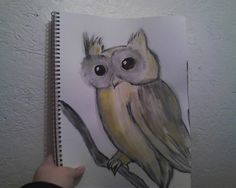 Whimsical Owl Painting by MargoMaxinePaintings on Etsy, $20.00  This is drawn by my neice, Brianna Wiersema.