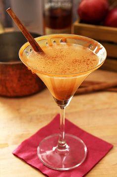 Warm Caramel Apple Cider Martini