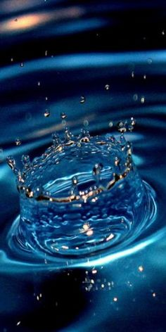 A splash of blue!