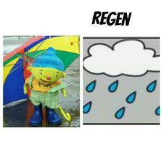 Weerkaart puk regen
