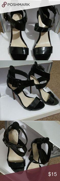Aldo heels Rocked these heels all the time my go to black heels. Aldo Shoes Heels