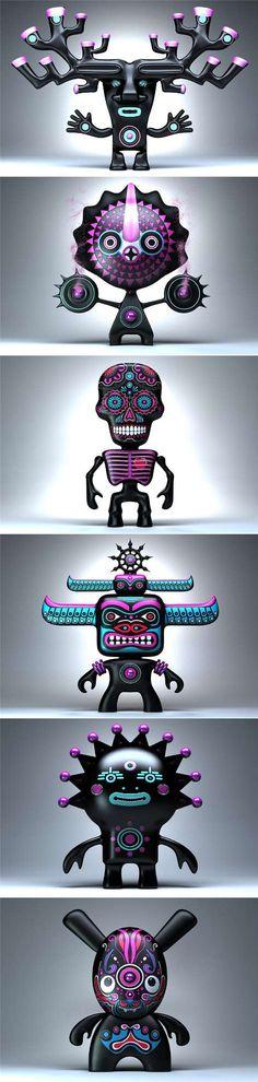 Etno Aliens - 3D Toy design by Sergei Voronov