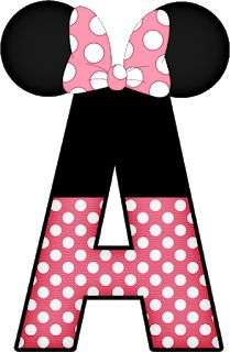 Mickey e Minnie - Minus Mickey E Minnie Mouse, Minnie Png, Mickey Party, Mickey Mouse Birthday, Girl Birthday, Alphabet Disney, Disney Images, Mini Mouse, Alphabet And Numbers