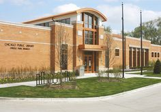 Oriole Park Branch Library, #LEED Certified, Chicago, IL designed by  JacksonHarlan, LLC