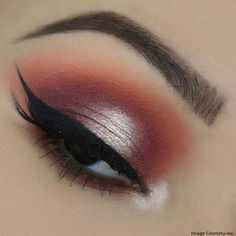 Pearly Orange Eye Makeup #eyemakeup #makeupideas #holidays