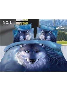 Cheap bedding set 4 pcs, Buy Quality bedding set directly from China print bedding set Suppliers: Bedding Collection New High Quality Unique Wolf Printed Oil Painting Bedding Set 4 Pcs of Duvet Cover Bed Sheet Pillowcases Blue Bedding Sets, Cotton Bedding Sets, Queen Bedding Sets, Cotton Duvet, Comforter Sets, Beach Bedding, Duvet Bedding, Pink Comforter, Luxury Bedding