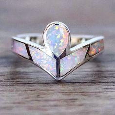 Angel Opal Ring | Bohemian Mermaid Jewelry