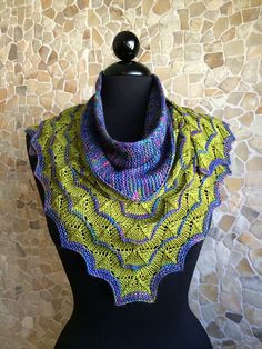 Ravelry: Martinmas Shawl pattern by Sarah Burghardt Abram, free and glorious in Malabrigo sock.