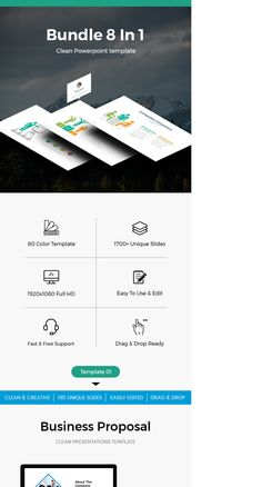 """Check out my @Behance project: """"Bundle 8 In 1 Business Powerpoint Template"""" https://www.behance.net/gallery/60616271/Bundle-8-In-1-Business-Powerpoint-Template"""