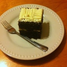 Can you believe it? This is chocolate cake made with beer! And it tastes awesome