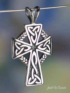 Celtic Cross Pendant Sterling Silver Christian by jewelbecharmed, $12.95