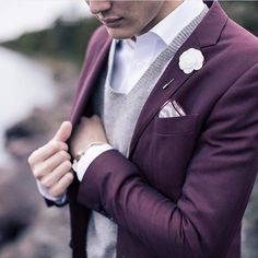 Loving the color of this suit jacket.