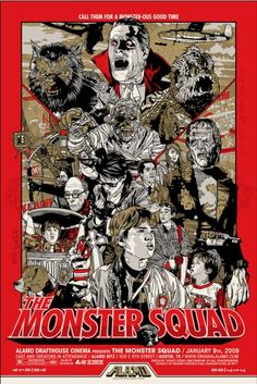 The Monster Squad was one of the best movies of my childhood!  This poster conveys its greatness!