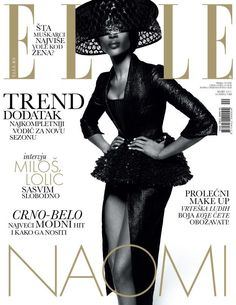 awesome Elle Sérvia | Capa Março 2013 | Naomi Campbell por Thomas Whiteside
