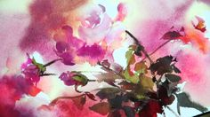This would really stretch me, but so much fun!  Watercolor-Rhythm of flowers no.1 by Phatcharaphan Chanthep