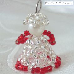 beaded christmas ornaments | beaded christmas angel beading instructions to make a christmas angel