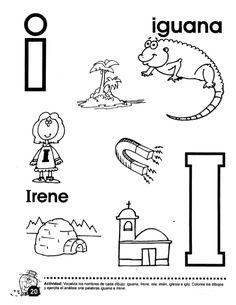 Letter I Worksheet, Abc Worksheets, Preschool At Home, Preschool Activities, Spanish Lessons For Kids, Writing Skills, Teaching English, Alphabet, Homeschool