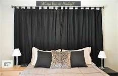 curtains as headboard - Bing Images