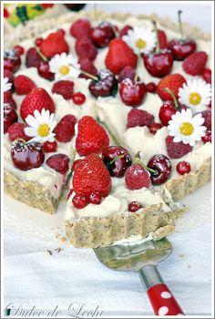 Dulce de Leche: Ovocná tarta s krémom z bielej čokolády a mascarpone