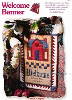 Welcome Banner  Creative Scrap Wall Quilt Pattern Leaflet w/ Flexible Templates