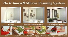 16 best mirredge mirror framing system images on pinterest i wish they had wider frame part though solutioingenieria Images