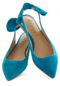 A Bright to See Flat in Aqua, #ModCloth...oh my. I'm such a flats addict. <3