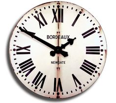 Bordeaux Tin Wall Clock | #vintage #clock #wallclock #industrial #white #rustic