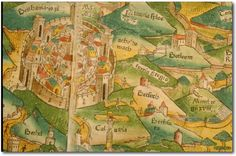 Rudimentum Novitiorum, Map of Palestine, 1475. detail: Jerusalem