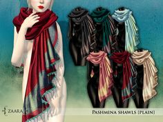 0154ac1573b7a Second Life Marketplace - Zaara : Pashmina Shawls classic FAT PACK Pashmina  Shawl, Second Life