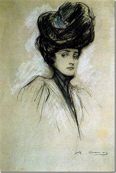 Ramón Casas Carbó (1866-1932). Julia blanc i negre