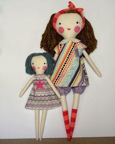 muñeca de trapo grandes: Francie muñeca de trapo rosey libre