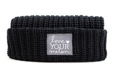Love Your Melon Black Cuffed Hat.Fifty Percent (50%) of net proceeds from the sale of this product will be donated equally to CureSearch for Children's Cancer and the Pinky Swear Foundation to fund cancer research initiatives and provide immediate support for families.