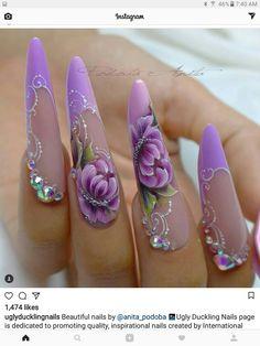 Sexy Nails, Cute Nails, Pretty Nails, Coffin Nails Long, Long Nails, Stiletto Nail Art, Acrylic Nails, Exotic Nails, Nails Only