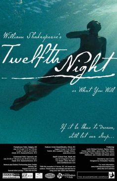 Poster for Twelfth Night production