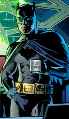 Yes, even Batman needs a coffee break :) Like the I <3 Gotham mug!