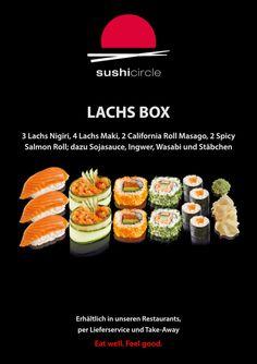 Sushi Circle, Sushi Restaurants, Html, Fruit, Box, Ethnic Recipes, Salmon, Simple, Snare Drum