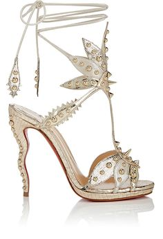 664ab7f7defd Christian Louboutin Venenana Leather Ankle-Tie Sandals