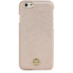 Tory Burch Robinson iPhone 6/6s Case ($65) ❤ liked on Polyvore featuring accessories, tech accessories, phone cases, tory burch and tory burch tech accessories