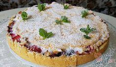 Linecký koláč s ovocem a sněhem