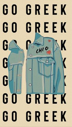 Jean Jacket Chi Omega Go Greek wallpaper graphic