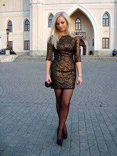 Golden dress (by Anna Krukowska) http://lookbook.nu/look/2672203-golden-dress